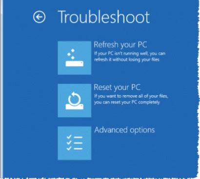 troubleshoot on Windows 8