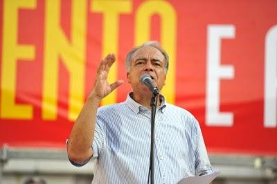 Francisco Louçã destaca o papel de luta e unidade de Carvalho da Silva – Foto de Paulete Matos