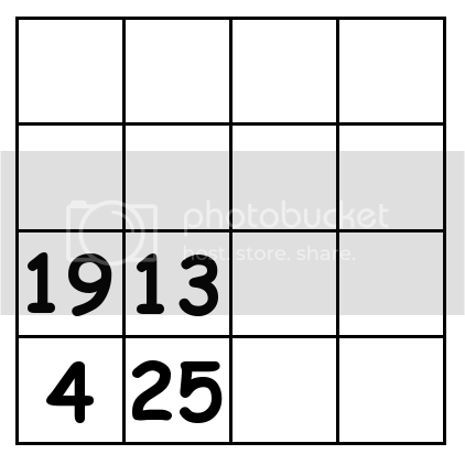 4 by 4 grid Puzzle 1