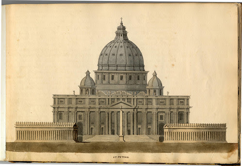 St Peter's Basilica (William Strickland Sketchbook, 1838) TEVA