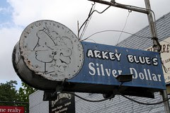 arkey blue's silver dollar sign