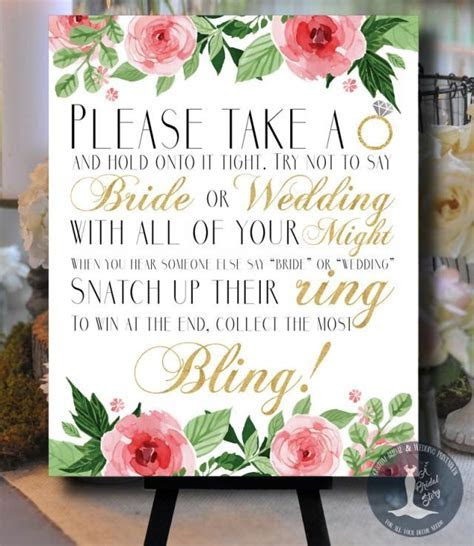 Don't Say Bride Or Wedding Floral Pink And Gold Bridal