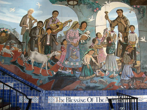 The Blessing of the Animals Mural