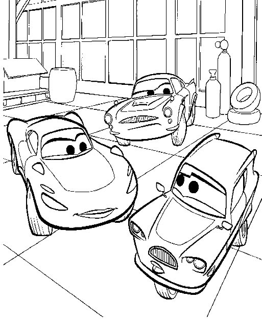 Imprimir Gratis Dibujos Para Colorear Cars 2