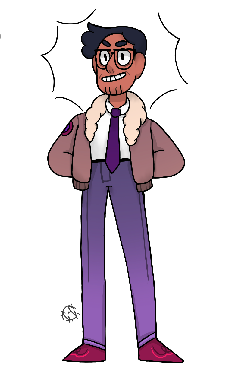 Everyone is out here drawing the new gems, and I'm here with my drawing of Connie's cool ass Dad.