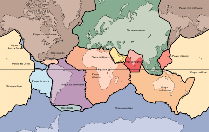 Fichier:Tectonic plates-fr.png
