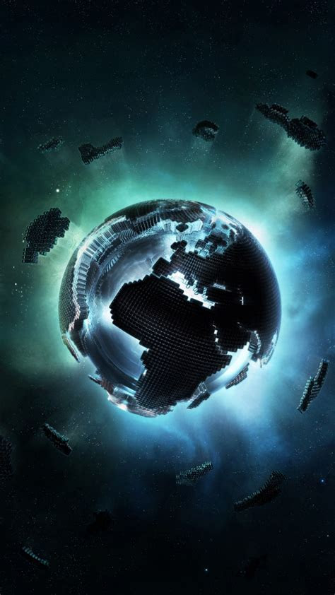 Galaxy S5 Pixel Earth Android Wallpaper free download