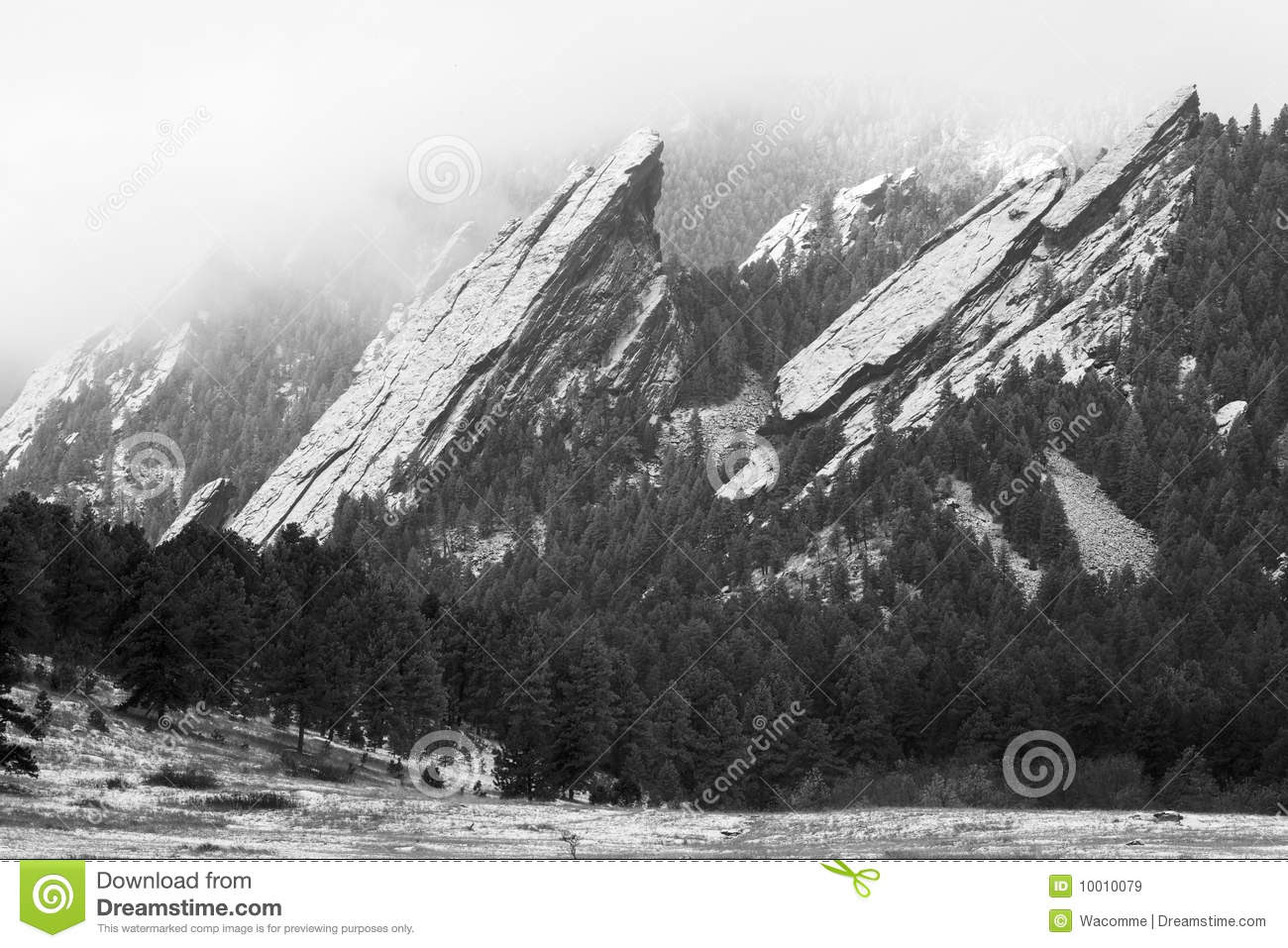 Flatirons Of Boulder In The Winter Royalty Free Stock