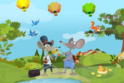 El Ratón del Campo y el Ratón de la Ciudad - Un Cuento Interactivo HD para Niños
