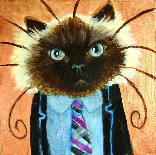 Quinn, A Business Cat