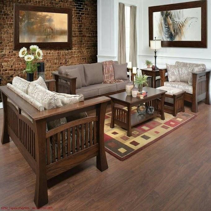 Kursi Sofa Sudut Ruang Tamu | Ide Rumah Minimalis