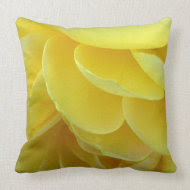 Yellow Rose Petals Throw Pillow throwpillow