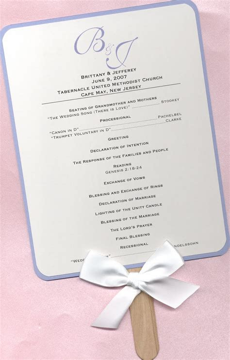 design aholic wedding program fans