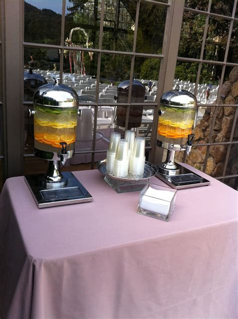 Pre Ceremony Self Serve Fruit Infused Water Station with