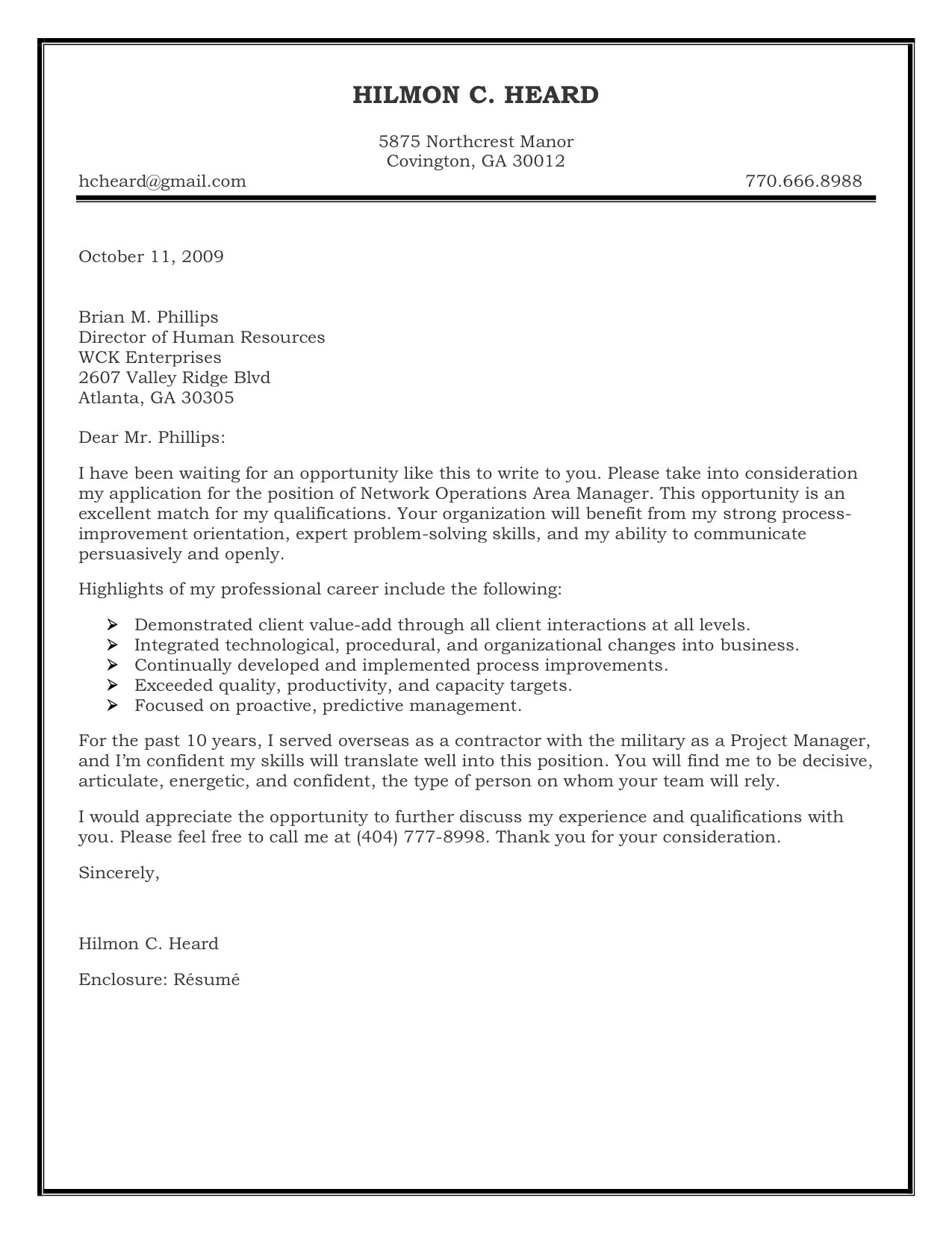 kiser operations sample cover letter Cover letter block format spacing ...