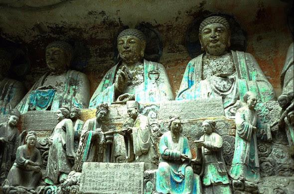 Esculturas rupestres de Dazu, monte Baoding.
