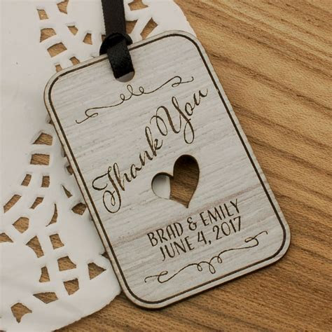 Personalized Laser Engraved Formica Wedding Gift Tags (4