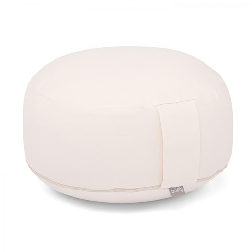 10% OFF | Almofada de meditação Rondo 100% algodão orgânico e fibra depaina 28cm x 17cm Bodhi