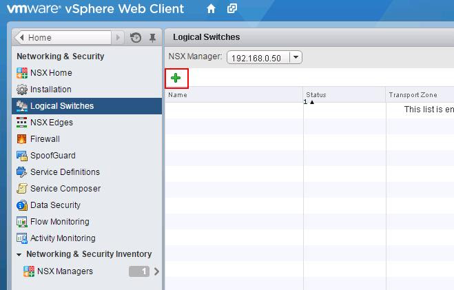 VMware NSX-Logical Switch Creation -2