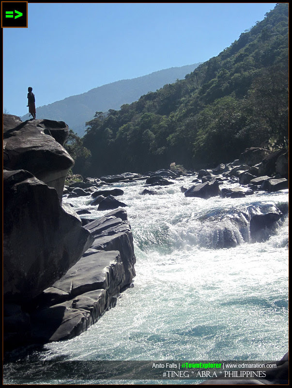 Anito Falls cascade along Tineg River of Abra