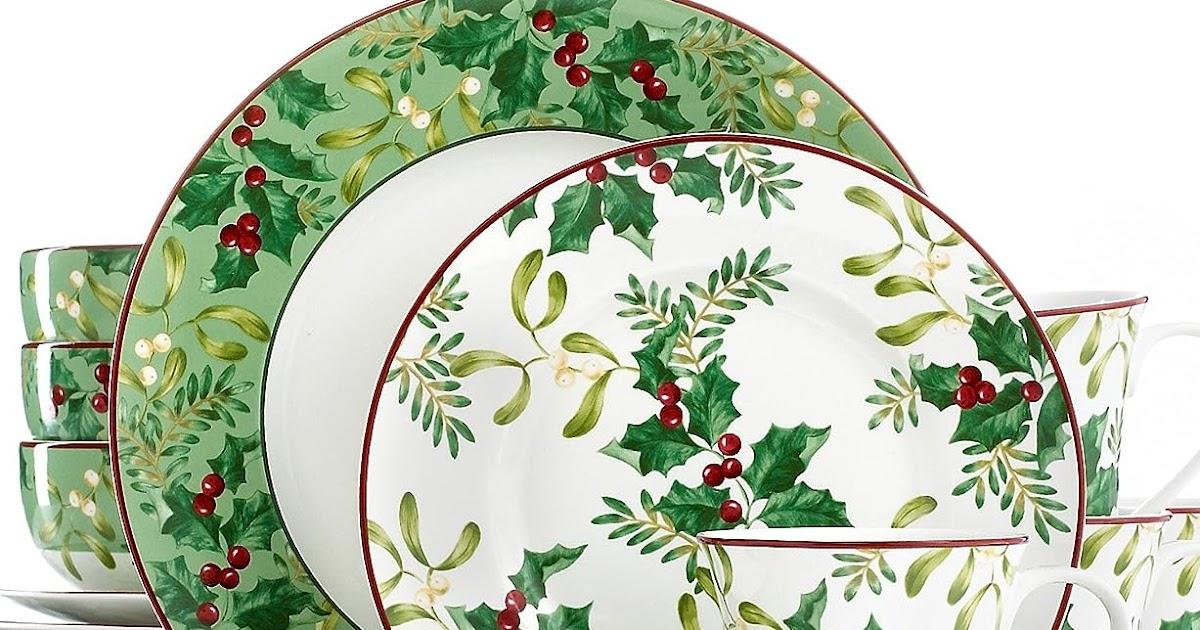 Christmas Holly Dinnerware Sets Christmas Wikii