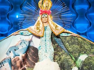 Miss Espírito Santo venceu prêmio de melhor figurino (Foto: Lucas Ismael/Band/Divulgação)