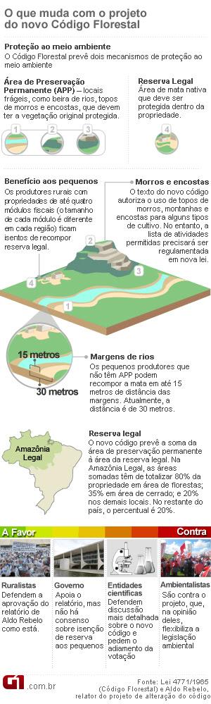 Arte Código Florestal 22h 02/05 (Foto: Editoria de Arte / G1)