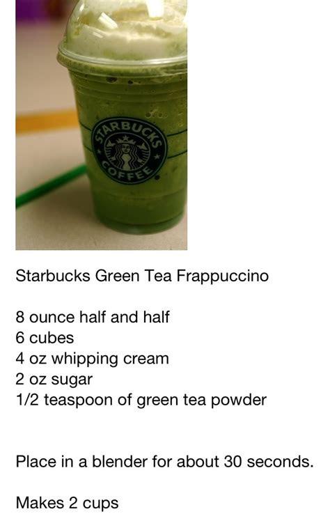 starbucks frappuccino recipe cards