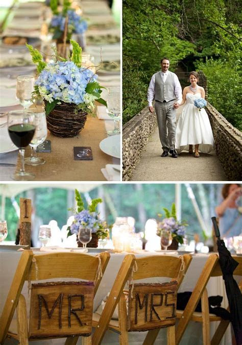 Country Western Wedding Ideas   burlap table runners, blue