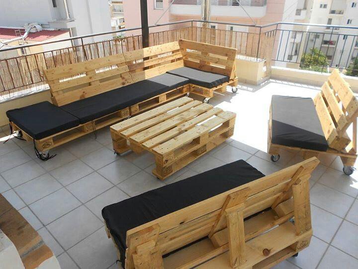 DIY Pallet Patio Furniture | New House | Pinterest