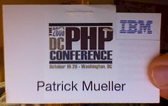 Hacked badge from 2006 DC PHP Conference by pmuellr