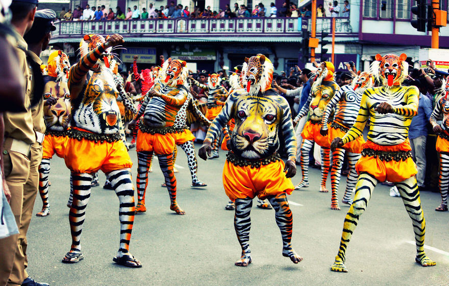 Pulikali - The Tiger Festival In Kerala (India)
