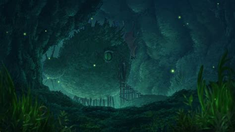 wallpaper environment cave   abyss anime