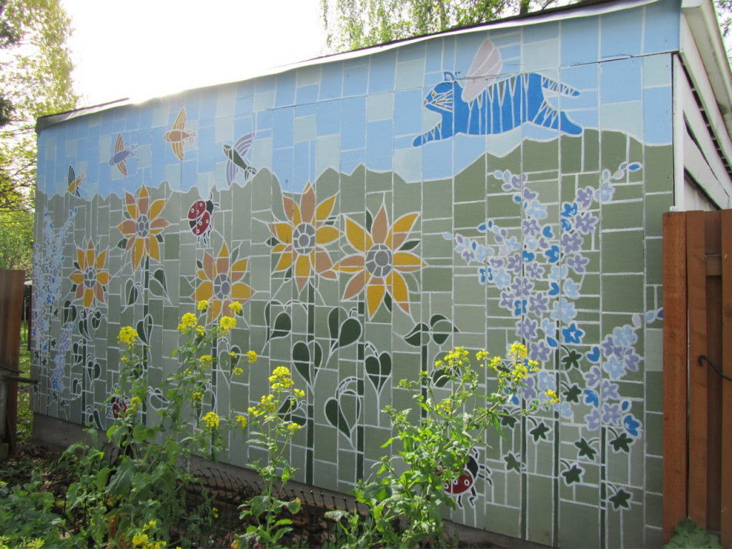Outdoor Murals Dress Up Sheds Garages And Blank Walls Plus
