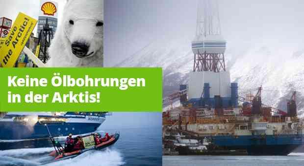 Keine Genehmigung für Ölbohrungen in der Arktis, © Stachowske, Modrow, Aubry / Greenpeace [M]