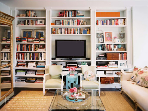lynn nigro bookshelves via lonny