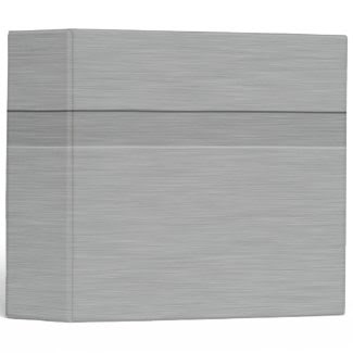 Faux Brushed Metal with Groove 3 Ring Binders