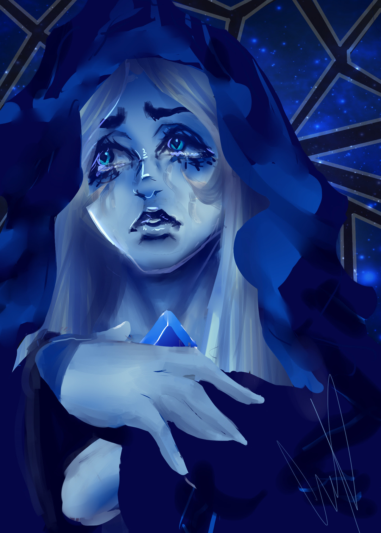Blue Diamond. I was too lazy to finish it