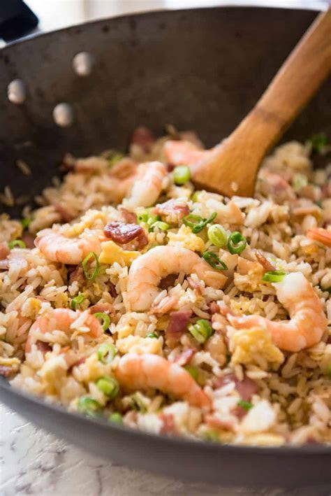 chinese fried rice  shrimp prawns recipetin eats