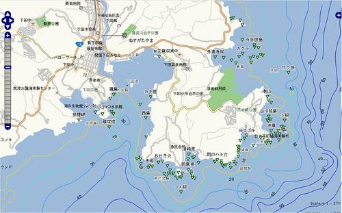釣りポイント(静岡県、伊豆半島、下田)