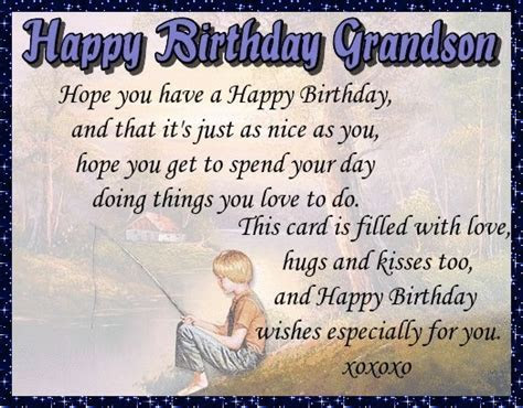 Happy Birthday For Grandson. Free Extended Family eCards
