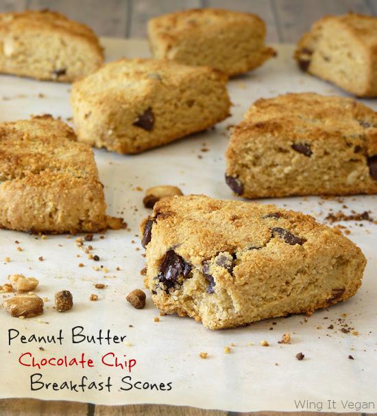 Peanut Butter - Chocolate Chip Breakfast Scones