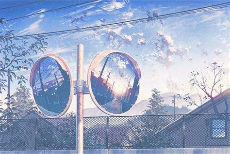 pin   anime aesthetics anime scenery blue