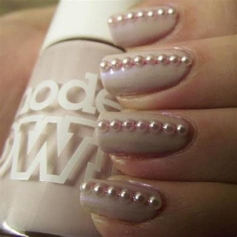 Wedding Nail Designs   Bridal Manicure / Nails // Pearls