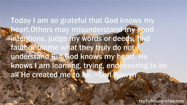 God Knows My Heart Quotes Best 7 Famous Quotes About God Knows My Heart