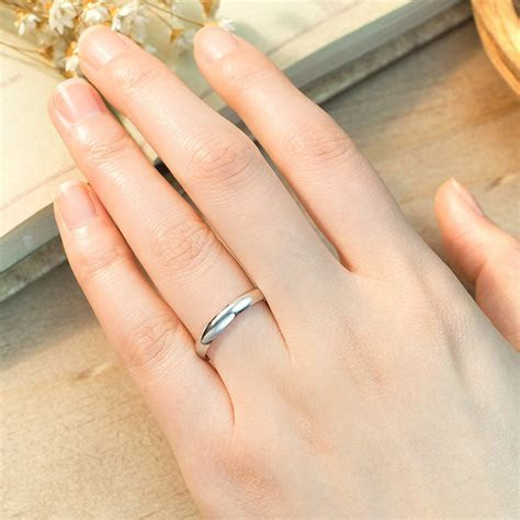 Domed Polished Couple Wedding Band for Women or Men