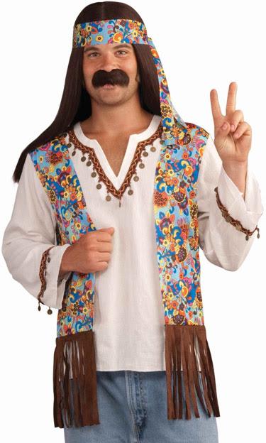 mens 60s 70s hippie woodstock adult halloween costume  ebay