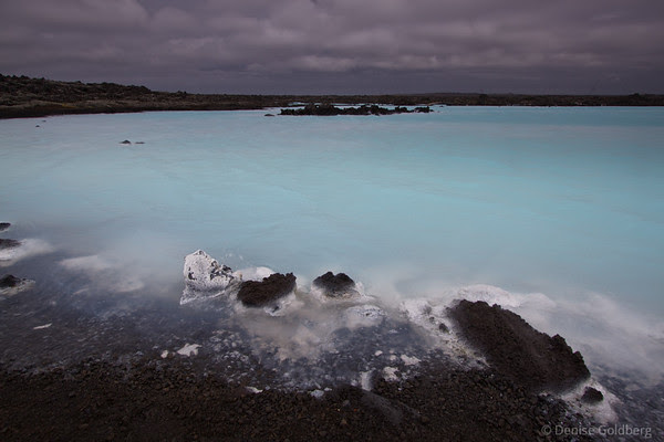 Blue Lagoon on a gray day