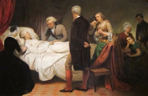 Washington on his deathbed by junius brutus stearns