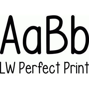 LW Perfect Print Font Design ID #55154